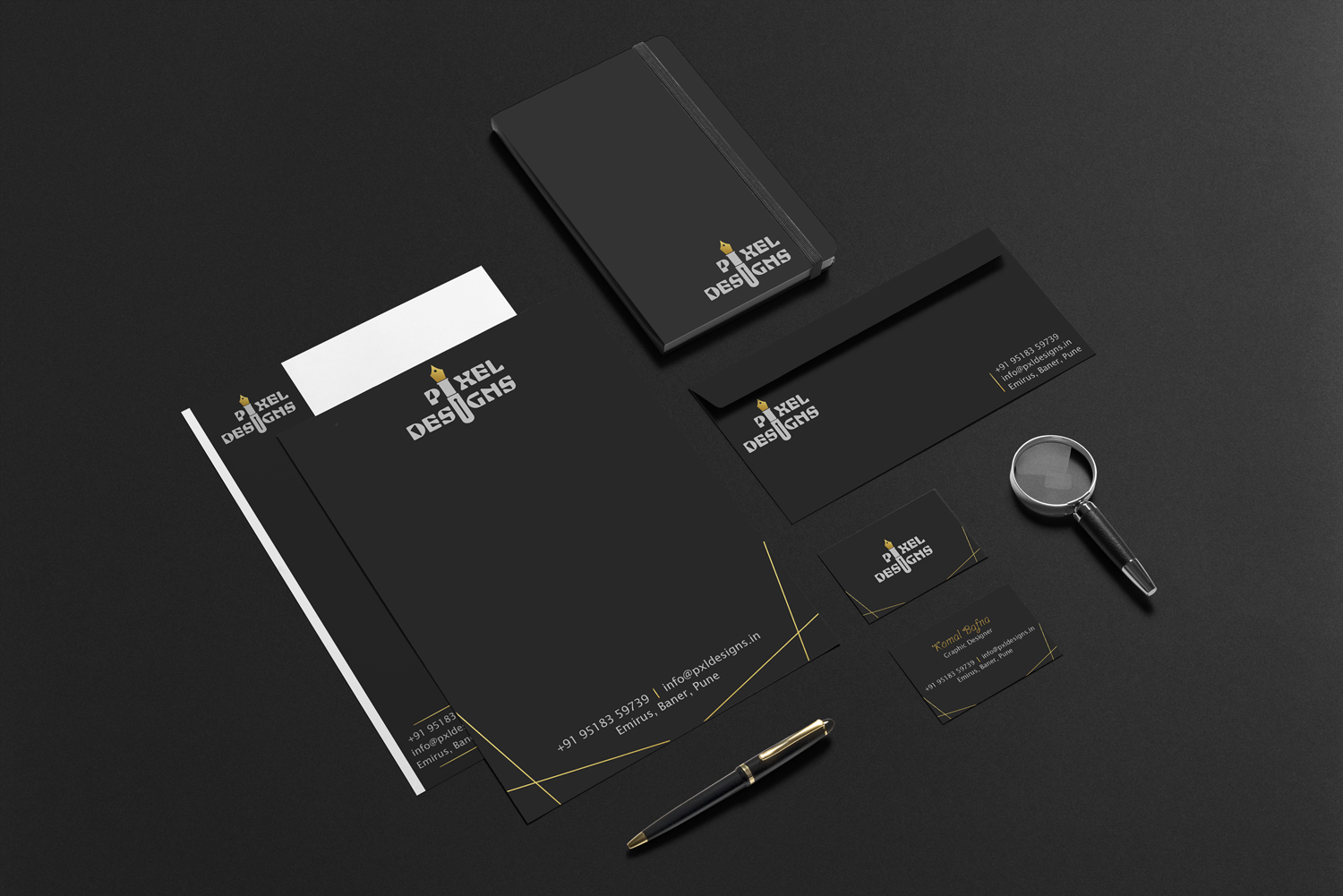 pixel-designs-gold-stationery-design