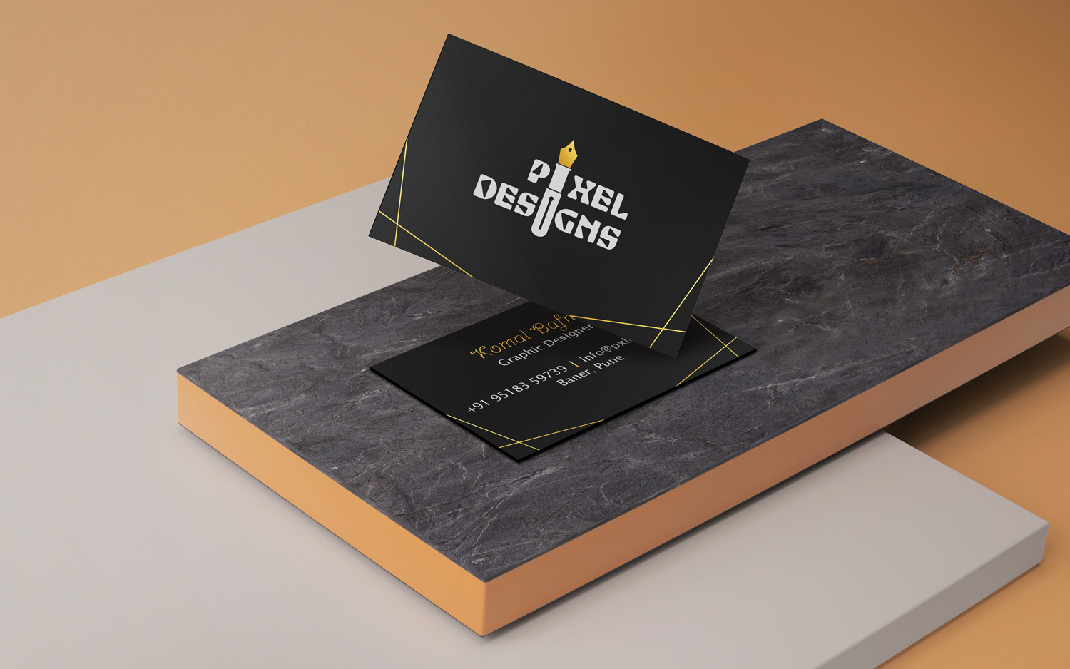 pixel-designs-gold-business-card